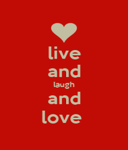 live and laugh and love  - Personalised Poster A1 size