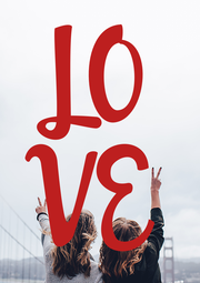 LO VE - Personalised Poster A4 size
