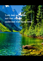 Look deep into nature  and then you will  understand everything better.                       - Personalised Poster A4 size