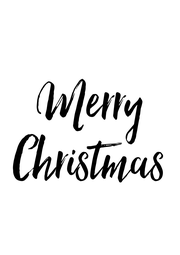 Merry Christmas - Personalised Poster A1 size