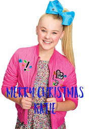 MERRY CHRISTMAS KATIE - Personalised Poster A4 size