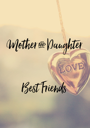 Mother & Daughter   Best Friends - Personalised Poster A4 size