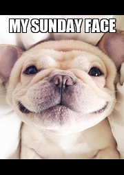 MY SUNDAY FACE  - Personalised Poster A4 size