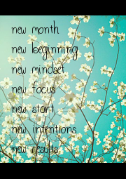 new month  new beginning new mindset new focus new start  new intentions new results - Personalised Poster A1 size