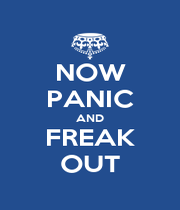 NOW PANIC AND FREAK OUT - Personalised Poster A4 size