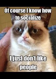 Of course I know how to socialize I just don't like people - Personalised Poster A1 size