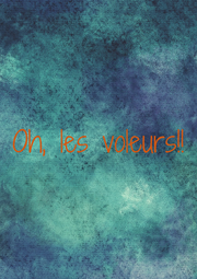 Oh, les voleurs!! - Personalised Poster A1 size