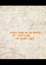 people born in the month 