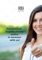 Personalized                    English classes                   online                   in Summer                   with us!                  - Personalised Poster A1 size