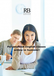 Personalized English classes online in Summer! - Personalised Poster A1 size