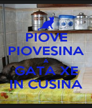PIOVE PIOVESINA A GATA XE IN CUSINA - Personalised Poster A4 size