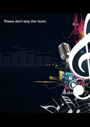 Please don't stop the music - Personalised Poster A4 size