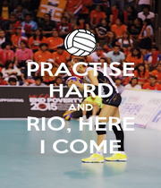 PRACTISE HARD AND RIO, HERE I COME - Personalised Poster A4 size