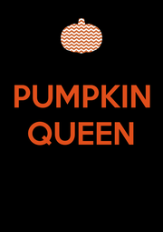 PUMPKIN QUEEN   - Personalised Poster A4 size