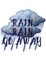 RAIN RAIN GO AWAY - Personalised Poster A4 size