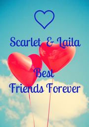 Scarlet  & Laila  Best Friends Forever  - Personalised Poster A1 size