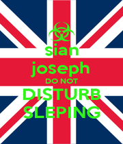 sian joseph DO NOT DISTURB SLEPING - Personalised Poster A1 size