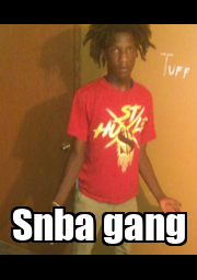 Snba gang - Personalised Poster A4 size