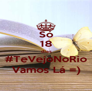 Só 18 dias #TeVejoNoRio Vamos Lá =) - Personalised Poster A4 size