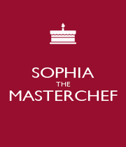 SOPHIA THE MASTERCHEF  - Personalised Poster A4 size