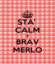 STA'  CALM E BRAV MERLO - Personalised Poster A4 size