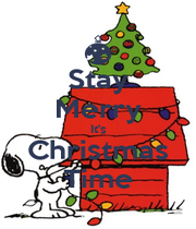 Stay Merry It's Christmas Time - Personalised Poster A4 size