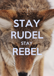 STAY RUDEL STAY REBEL  - Personalised Poster A1 size
