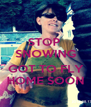 STOP  SNOWING   GOT TO FLY  HOME SOON  - Personalised Poster A1 size