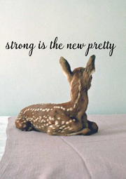 strong is the new  pretty        - Personalised Poster A4 size