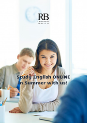 Study English ONLINE in Summer with us! - Personalised Poster A1 size