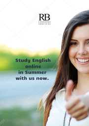 Study English                online                in Summer                 with us now.                  - Personalised Poster A1 size
