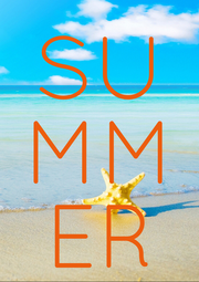 SU MM ER - Personalised Poster A1 size