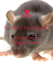 SYD RAT OF AUGUST   ANGEL1227 Saggy Granny - Personalised Poster A1 size