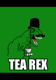 TEA REX - Personalised Poster A4 size