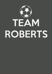TEAM ROBERTS    - Personalised Poster A1 size