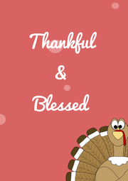 Thankful  &  Blessed   - Personalised Poster A4 size