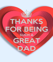THANKS FOR BEING SUCH A GREAT DAD - Personalised Poster A4 size