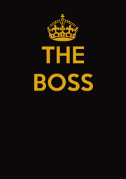 THE BOSS    - Personalised Poster A4 size