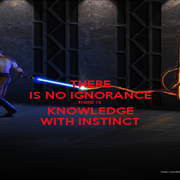 THERE IS NO IGNORANCE THERE IS KNOWLEDGE WITH INSTINCT - Personalised Poster A1 size