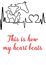 This is how my heart beats - Personalised Poster A4 size