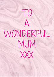 TO A WONDERFUL MUM XXX - Personalised Poster A4 size