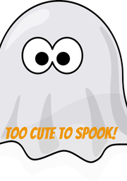 TOO CUTE TO SPOOK! - Personalised Poster A4 size