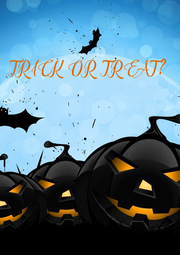 TRICK OR  TREAT? - Personalised Poster A4 size