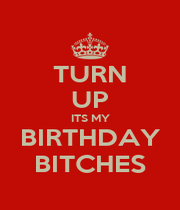 TURN UP ITS MY BIRTHDAY BITCHES - Personalised Poster A1 size