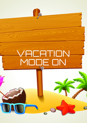 VACATION MODE ON    - Personalised Poster A4 size