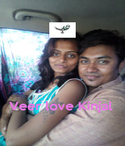 Veer love Kinjal  - Personalised Poster A1 size