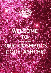 WELCOME  TO  OUR TEAM CHIC COSMETICS CODE: ASHCHIC - Personalised Poster A4 size