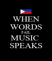 WHEN WORDS FAIL MUSIC  SPEAKS - Personalised Poster A1 size