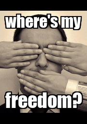 where's my freedom? - Personalised Poster A4 size