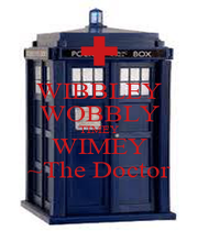 WIBBLEY WOBBLY TIMEY WIMEY ~The Doctor - Personalised Poster A4 size